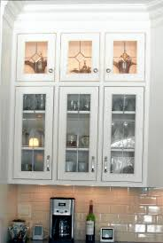 decorative glass inserts for kitchen cabinets small