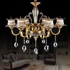 copper chandelier lighting living room candle crystal chandelier villa duplex building chandelier dining room lamp bedroom