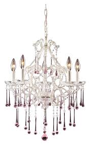 elk 4002 5rs once 20 inch diameter medium rose crystal chandelier light with antique white loading zoom