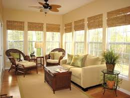 sunroom decor ideas. classic bamboo roman shades sunroom decor ideas e