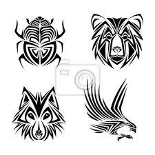 Nálepka Orel Vlk Medvěd Chyba Tetování Zvíře Nakreslit Abstraktní Ikonu