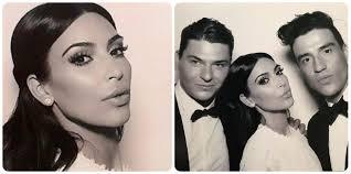 kim kardashian and make up artist mario dedivanovic insram