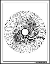 Small Picture 3D Geometric Coloring Page Rainbow Swirl Circle