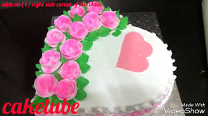 How To Make Heart Shaped Cake Anniversary Cake Beautiful Cake