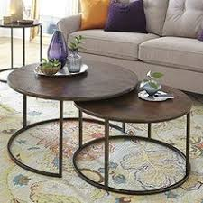 stacking coffee tables. Delighful Tables Features Round Shape Copper Tops Bronze Metal Smaller Table Round  Nesting BasketCOFFE TABLECoffee  On Stacking Coffee Tables O