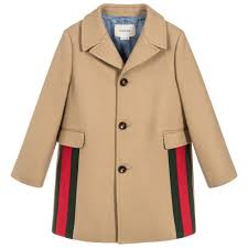 Kids Designer Coats Boys Luxury Beige Wool Coat For Boy By Gucci Discover The