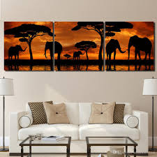 2018 sunset african elephant canvas paintings home decor wall art framed posters hd prints pictures painting from solutionwinni 30 51 dhgate com on african elephant canvas wall art with 2018 sunset african elephant canvas paintings home decor wall art