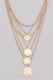 layered gold coin chain statement necklace coin jewelry trend layered necklace trend
