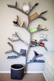diy shelves in form of a tre - Google-sk  Tree ShelfTree BookshelfBaby ...