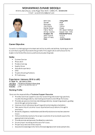 new update resume .