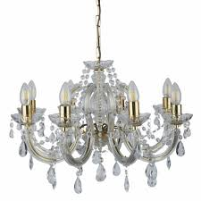marie theresa classic crystal 8 light chandelier
