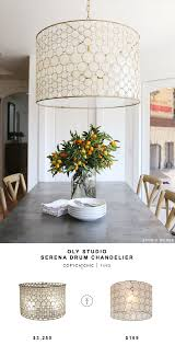 oly studio serena drum chandelier for 3 250 vs pottery barn teen piper capiz hanging pendant for