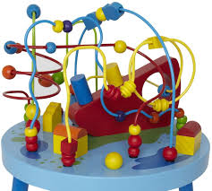 hape ocean adventure knee high table puzzle wire maze with wooden beads