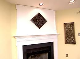 weekend projects extending the space above the fireplace mantel