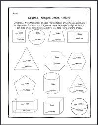 1st Grade worksheet on plane shapes and solid figures | Math ...