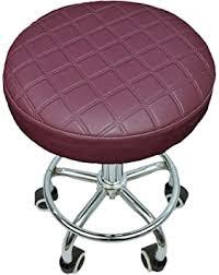 <b>Bar Stool</b> Covers Waterproof PU Slipcover for Round Chair Seats ...