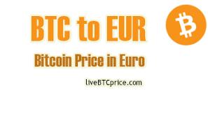 Convert Bitcoin Btc To Euro Eur 3 412 73 Live