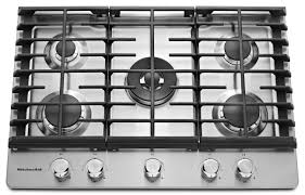 kcgs550ess kitchenaid 30 5 burner gas cooktop with even heat simmer burner stainless steel