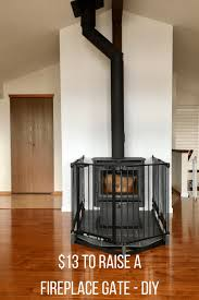 13 fireplace gate diy project that raises a bought baby gate to accommodate taller