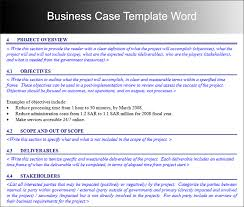 Free Case Template Business Case Templates Business Case Template Free Word Pdf