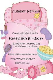 Free Printable Slumber Party Birthday Invitations Slumber