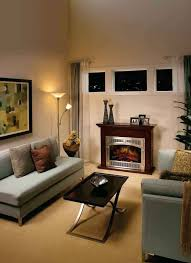 fireplace living room decor small living room decoration with silver aluminum frame electric fireplace with dark