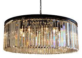 d angelo 12 light round clear glass fringe prism chandelier com
