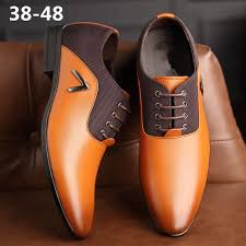 men leather dress shoes mens flats fashion casual business oxfords formal shoes office simple british style