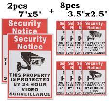 Safurance 10pcs Lot Waterproof Sunscreen Pvc Home Cctv Video Pvc Securite