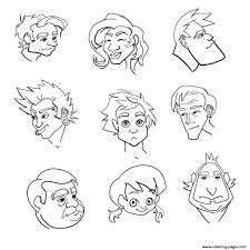 emotion happy face coloring pages