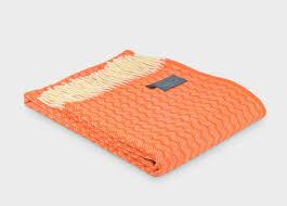orange throws  the british blanket company