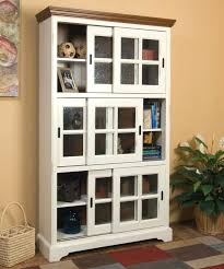 bookcases with glass doors canada white wooden bookcases with sliding glass doors having black handle and short base also bookcase with glass doors ikea