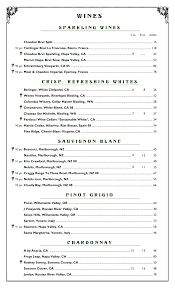 Sample Wine Menu Template MenuPro Menu Design Samples from MenuPro menu software more than 1
