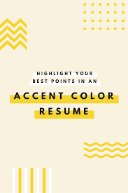 Using Color In A Resume Emphasize Career Highlights On Your Resume By Using Color