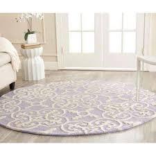 cambridge lavender ivory 6 ft x 6 ft round area rug