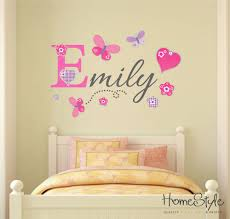 personalised girls name butterfly wall art stickers childrens kids nursery b2 in home furniture diy home decor wall decals stickers ebay on nursery wall art stickers ebay with personalised girls name butterfly wall art stickers childrens kids