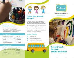 Pre School Brochure Template Brochure Design Templates