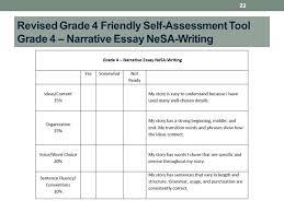 teaching writing nebraska standards writing is not caught it  22 revised grade 4 friendly self assessment tool grade 4 narrative essay nesa writing 22