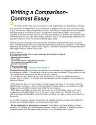 how to write compare contrast essay nuvolexa example of a compare contrast essay how to write and conclusion best photos an interview how