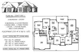 3 bedroom house plans with garage and basement. 1 story, 3 bedroom, 2 1/2 bathroom, dining room, family future study, car garage, 2347 square feet house plan bedroom plans with garage and basement