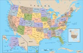 united states political map wall mural from academia