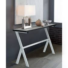 hallway office. Image Is Loading Retro-Console-Table-Cement-Wooden-Metal-Living-Room- Hallway Office