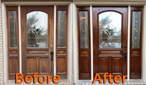 refinishing front doorProjects K  E Painting Services Richardson TX