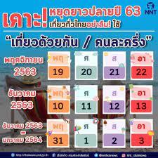 เปิดปฏิทินวันหยุดยาวสิ้นปี 2563 วันขึ้นปีใหม่ 2564 วางแผนเที่ยวกัน