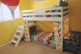 diy jr camp loft bed with curtain