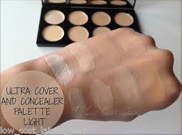 swatches 1 london light um ultra 6 of 9 makeup revolution ultra cover and conceal palette