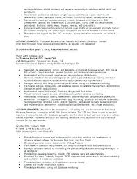 Sql Server Dba Resume New 20 Database Administrator Resume Sample