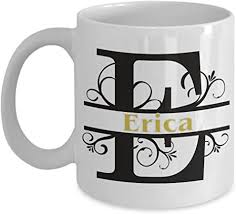 Amazon.com: Erica Coffee Mug First Name Monogram Personalized ...