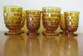 antique barware amber glass