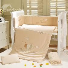 happy elephant 7 piece organic cotton crib bedding sets
